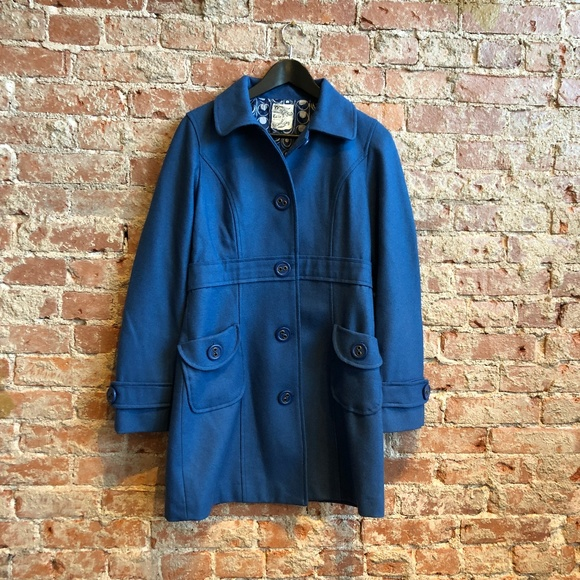 Tulle Jackets & Blazers - Tulle Wool Blue Coat (Size M Nordstrom Jr. Sizing)